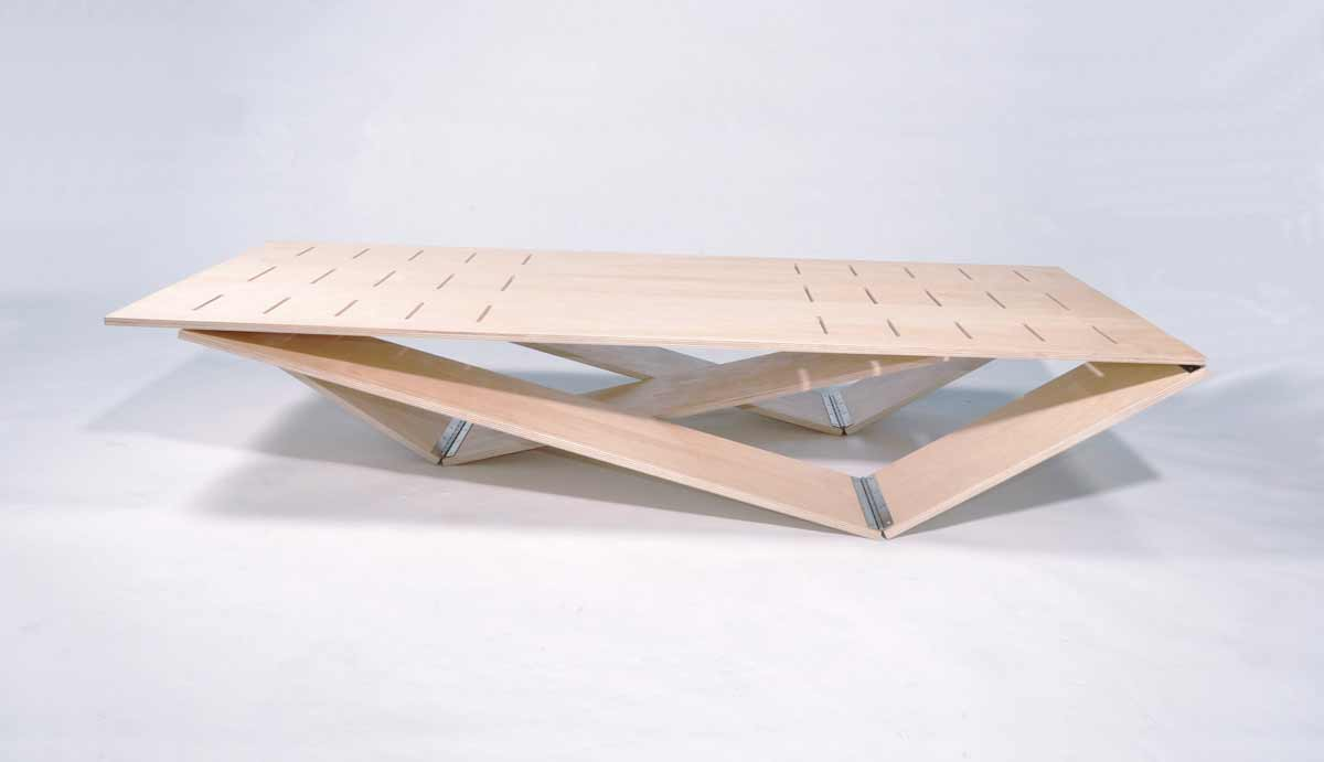 Modern Wooden Folding Table Design Interior Architecture