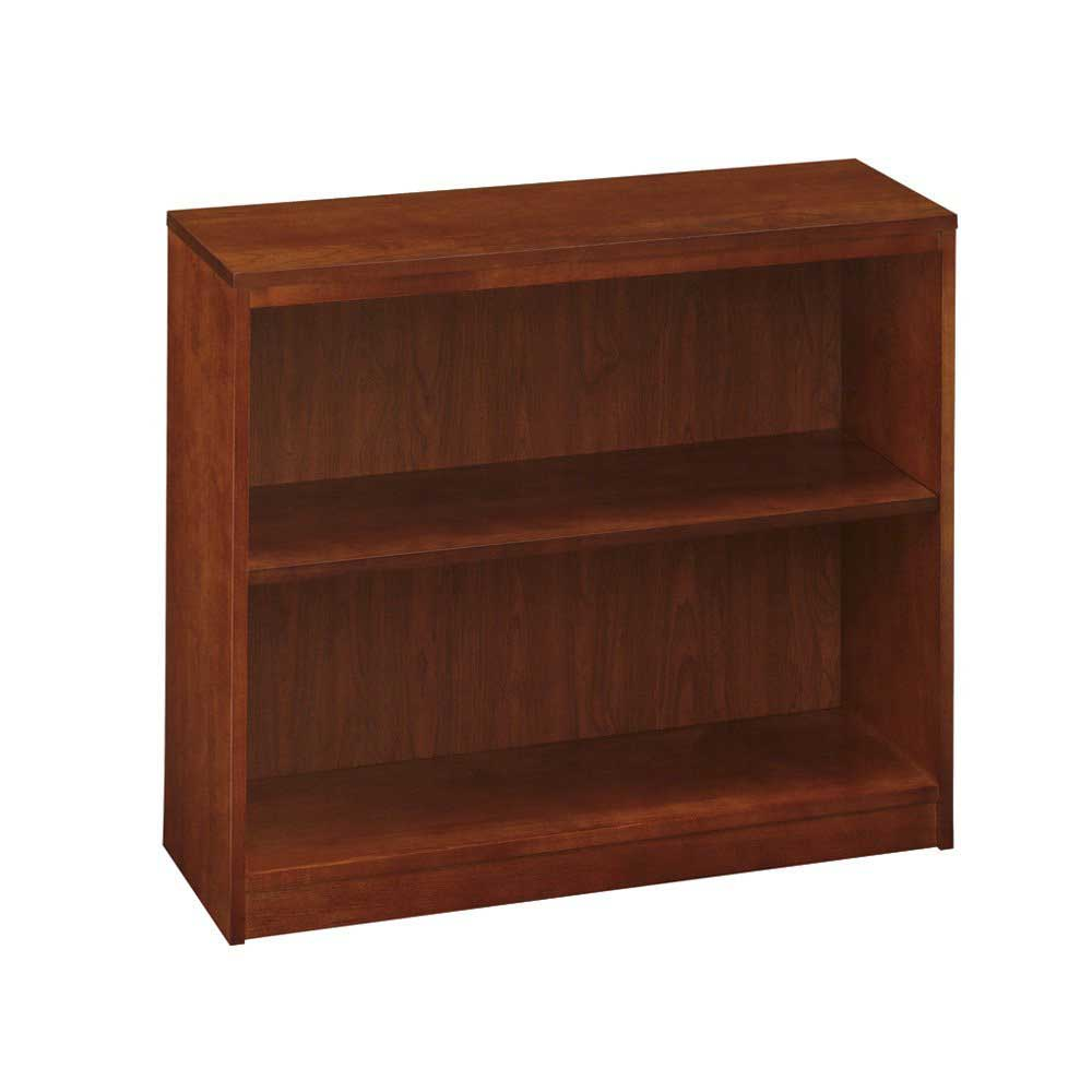 National furniture amber cherry one shelf bookcase