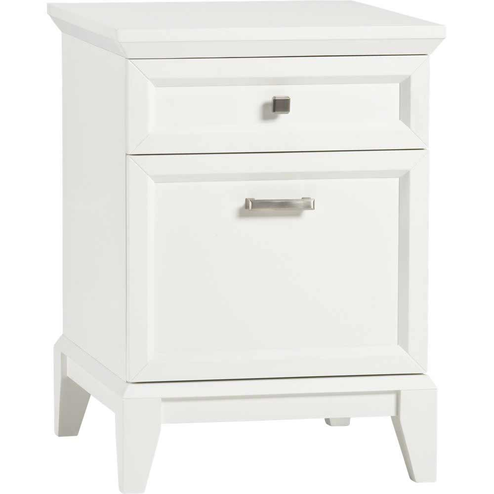 Paterson two drawers white vertical filing cabinets
