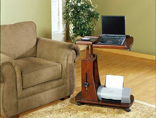 Sauder deluxe rosewood laptop reading table