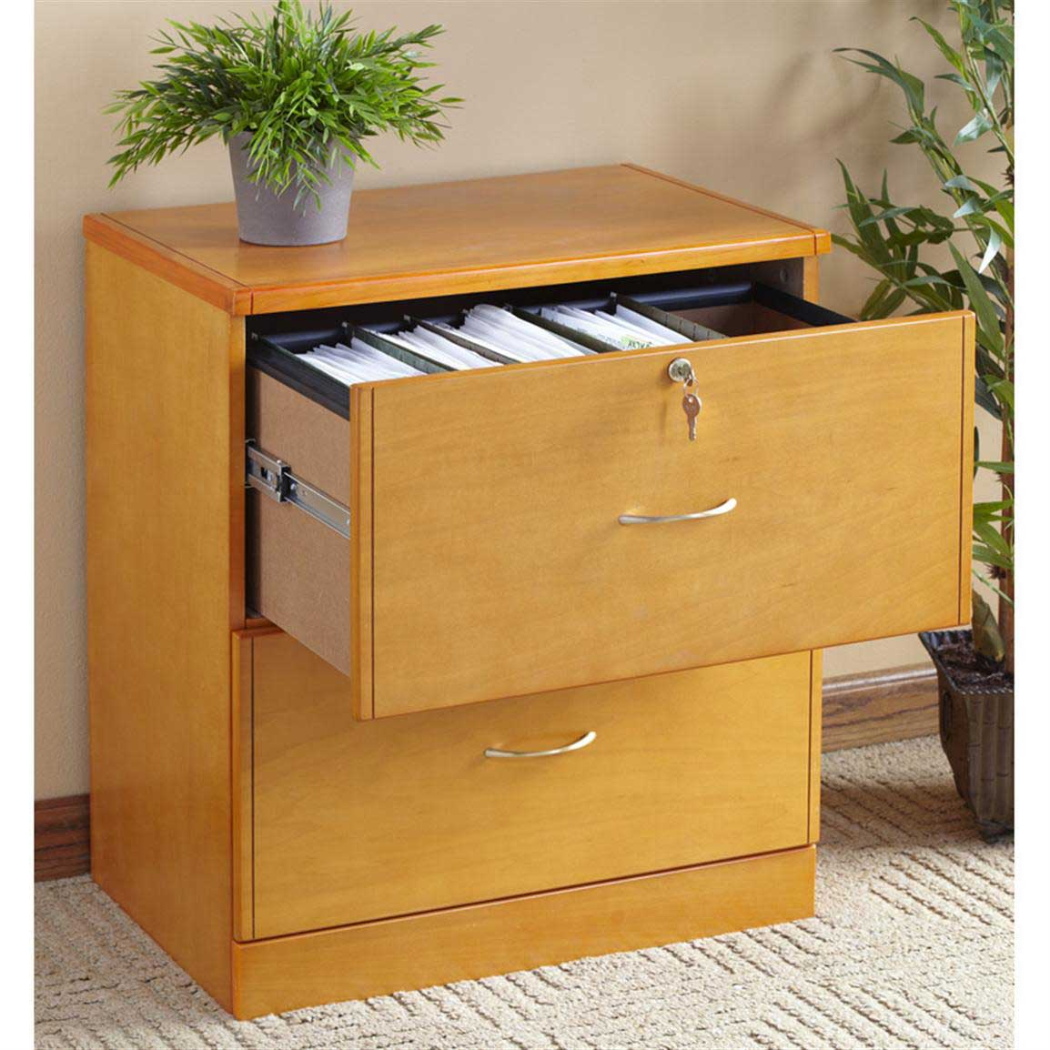 Studio RTA wooden storage cabinet with 2 drawer