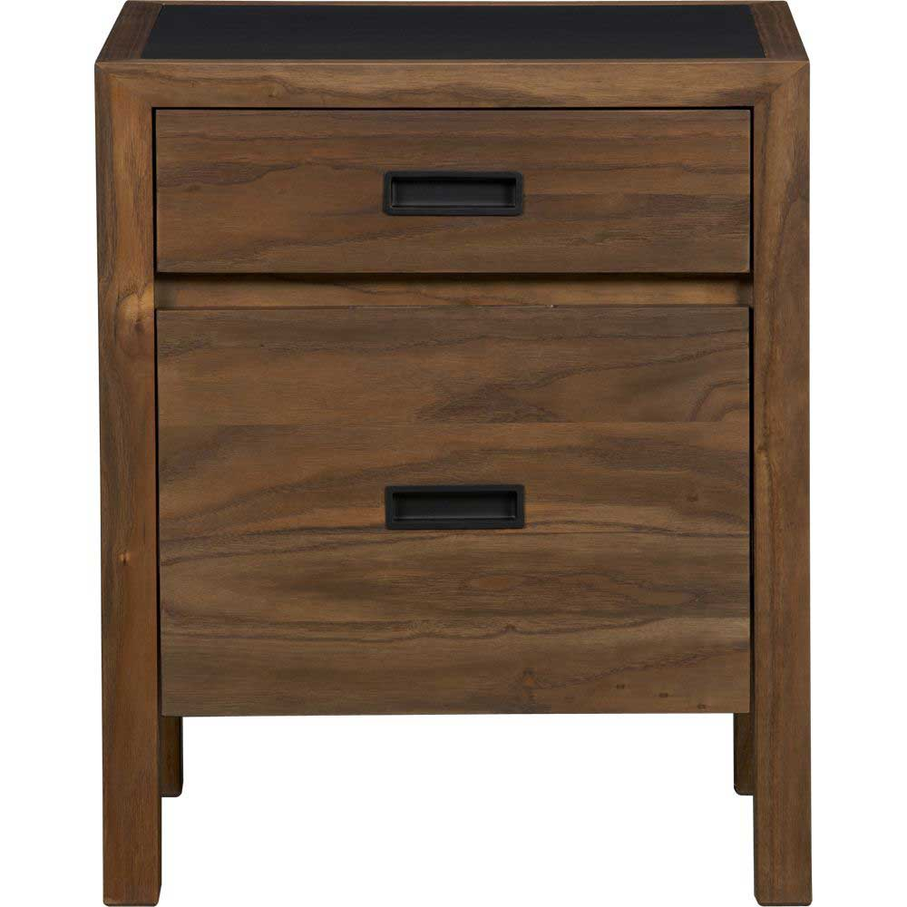 Tahoe Solid Elm Wood 2 Drawer Filing Cabinet