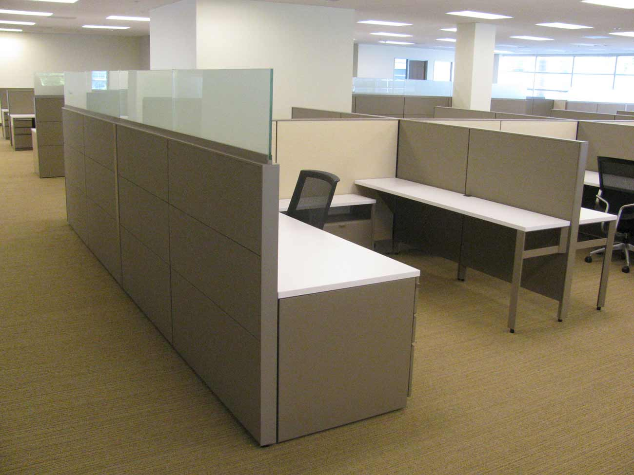 Used Top Glass Office Cubicle in Houston
