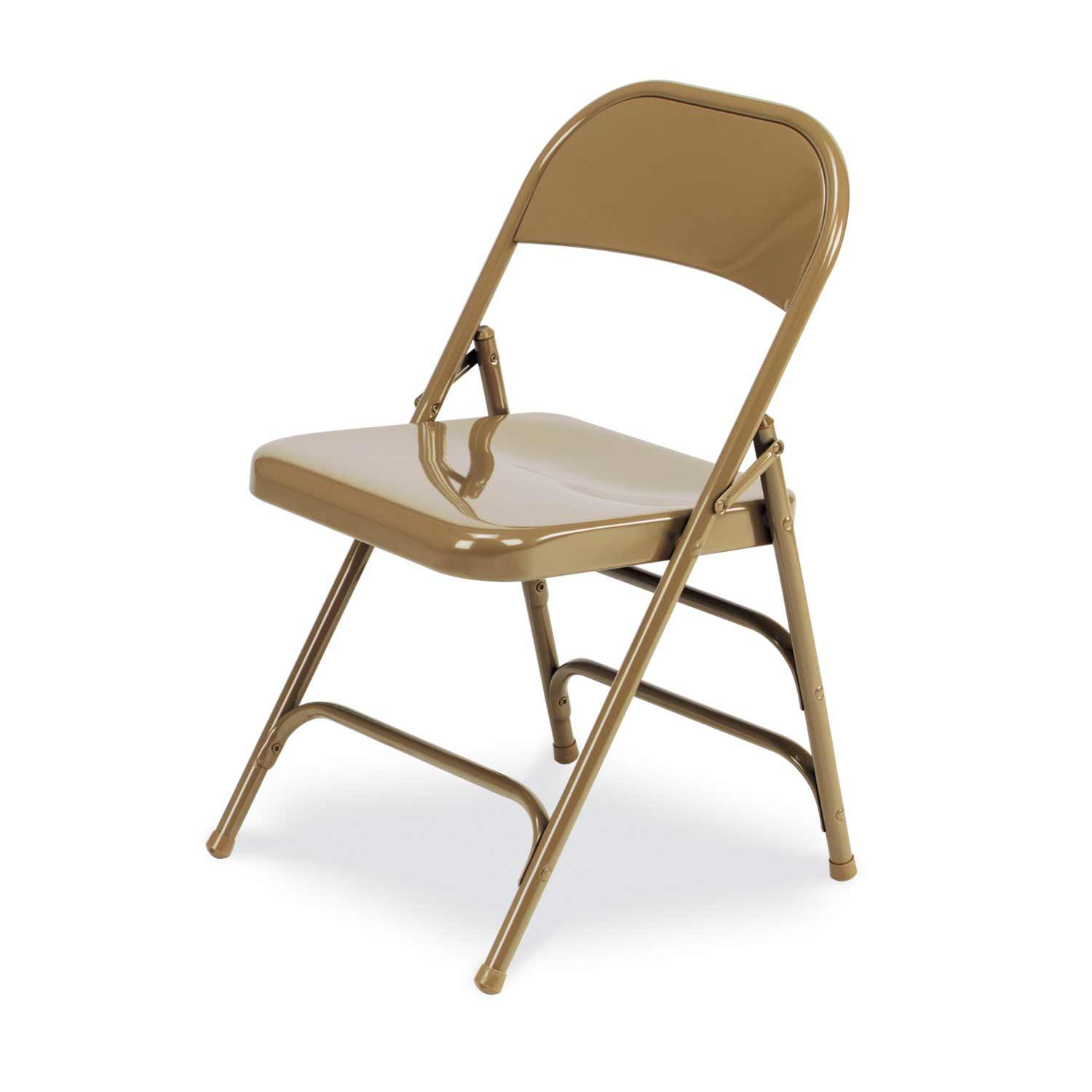 Virco folding chairs 167 in golden metal