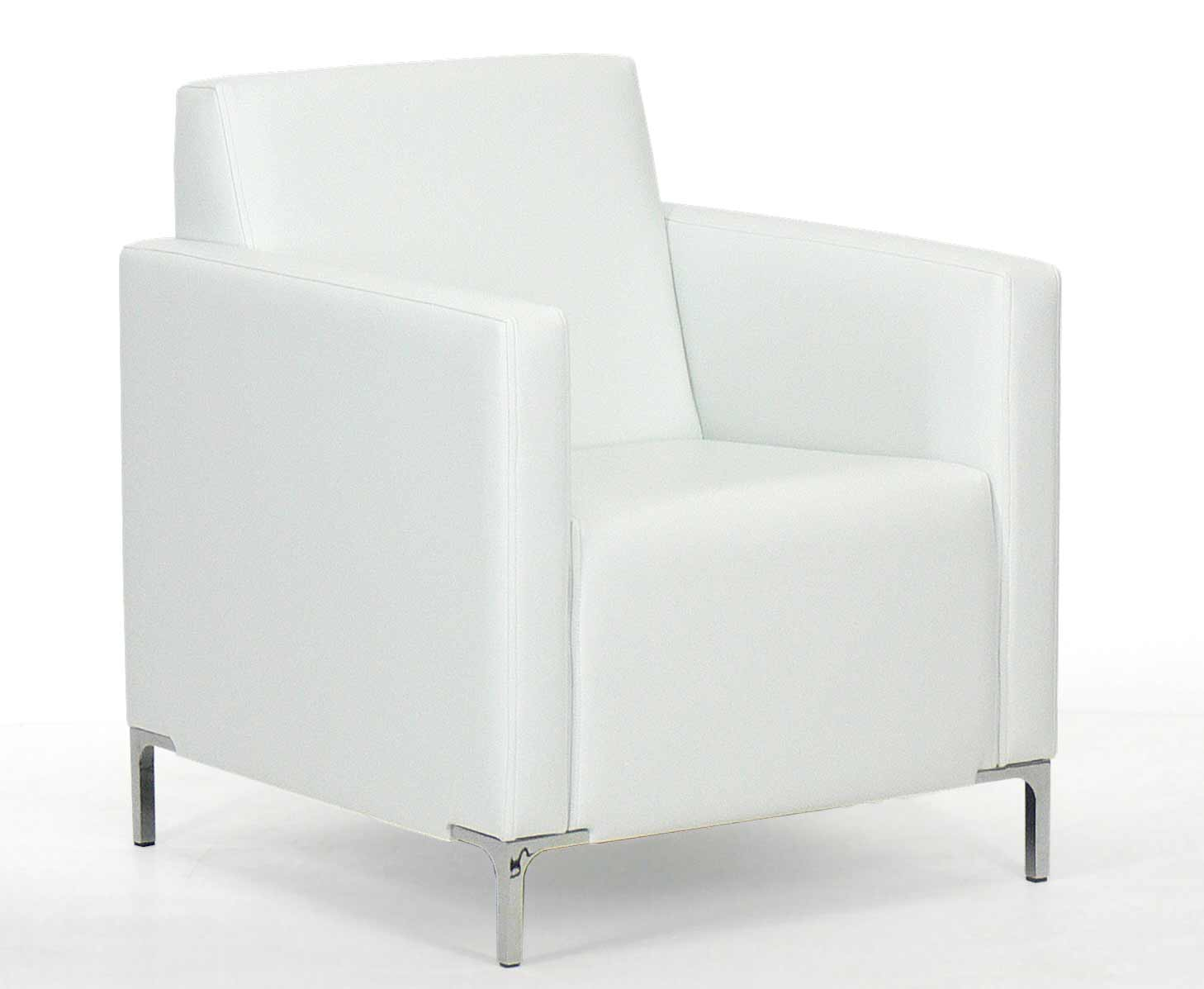 White leather office executive reception sofa