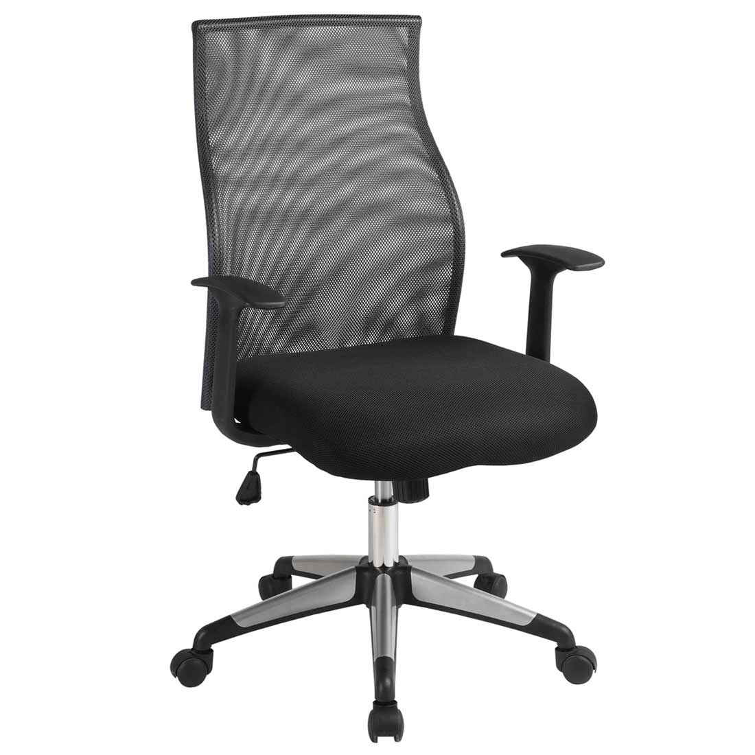 adjustable office mesh chair with fabric seat