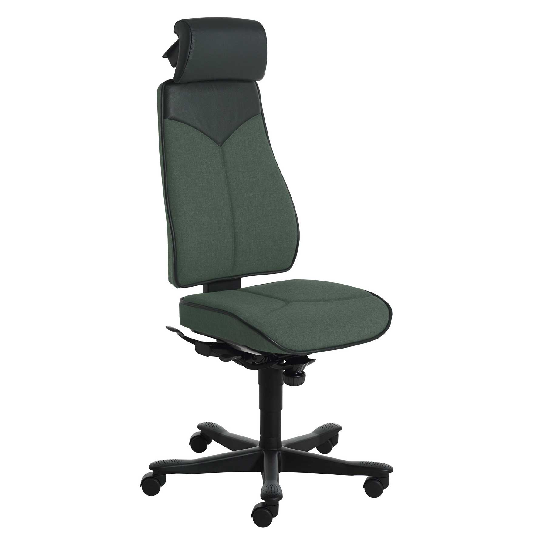 armless tall and big office chair with neck pillow