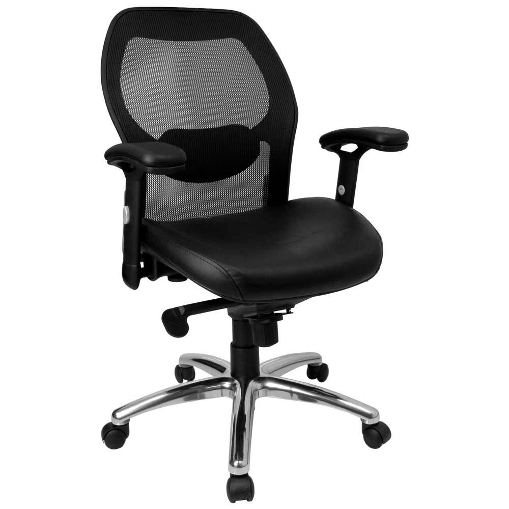 mesh ventilated mid back office chair
