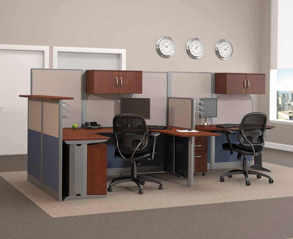 modular Bush office furniture chair and cubicle