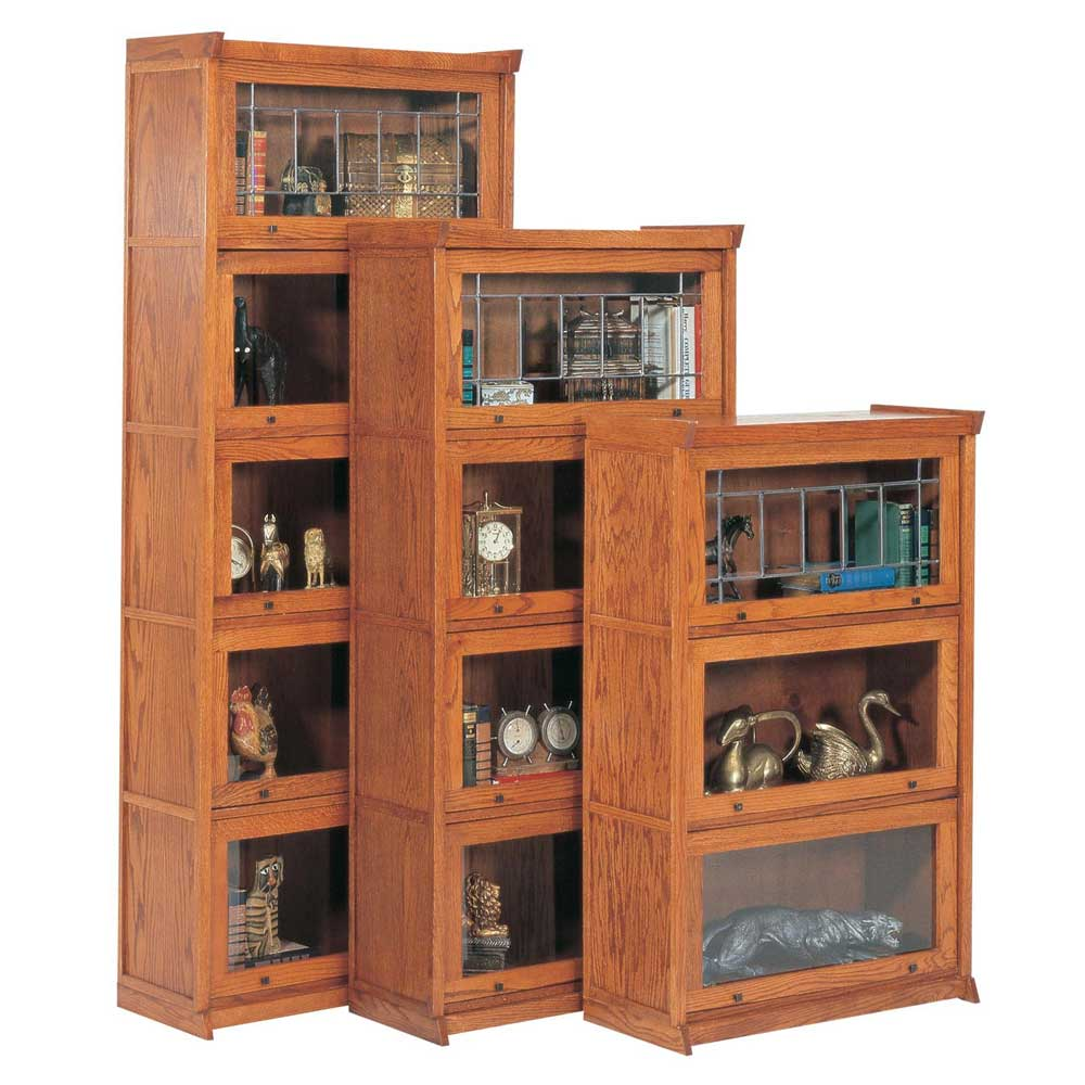 oak mission style barrister bookcase collections