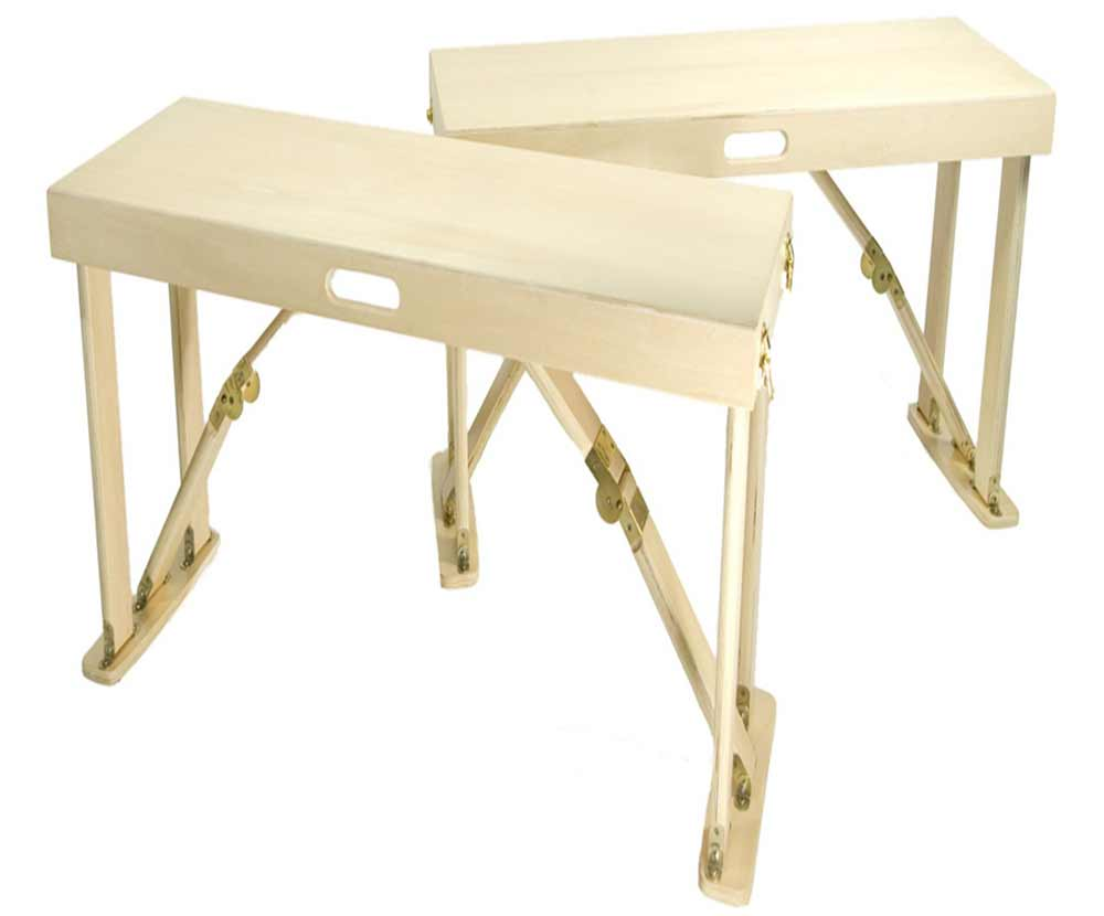 white folding portable table with spider legs