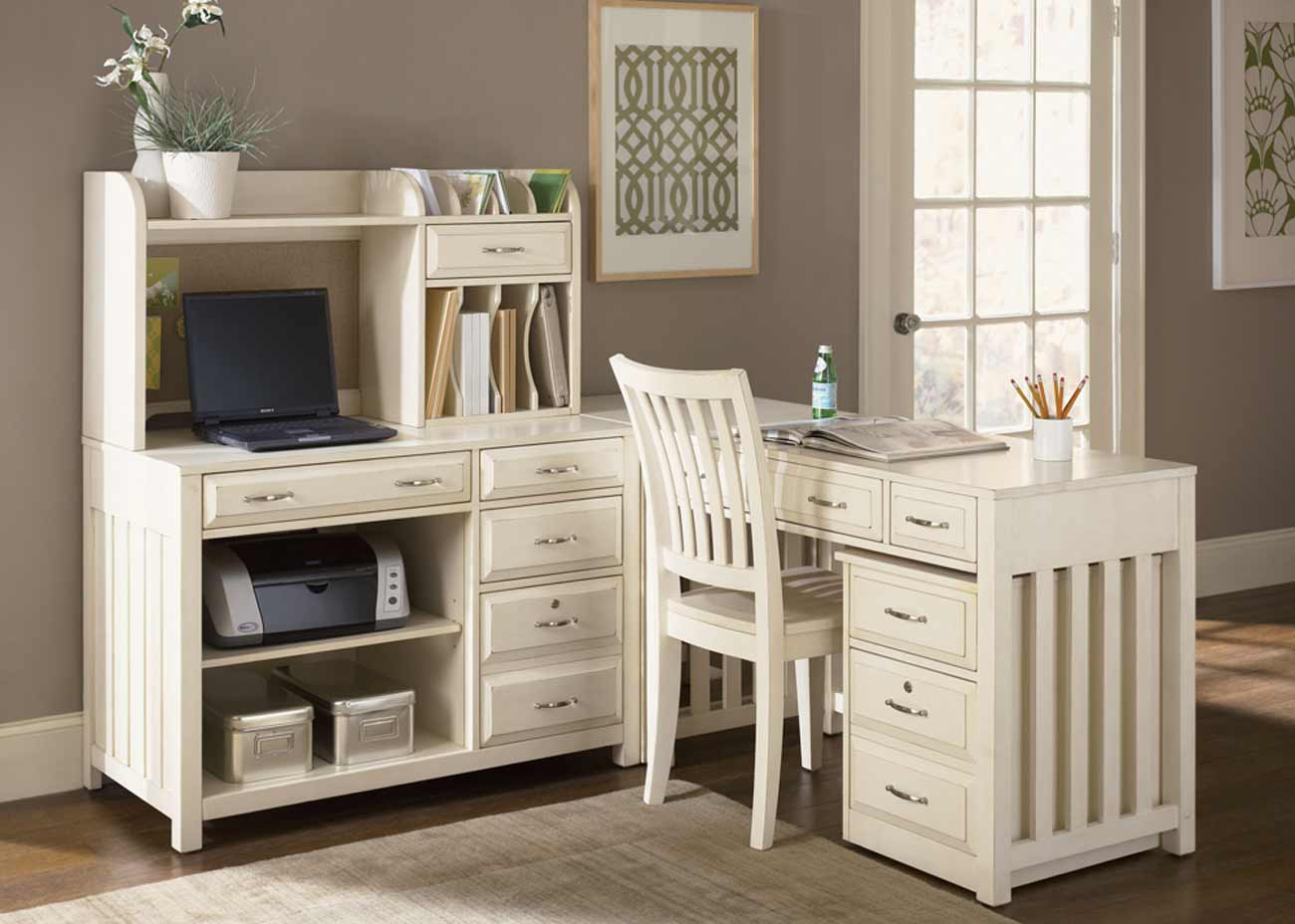 Student Desk with Hutch White Finish  amazoncom