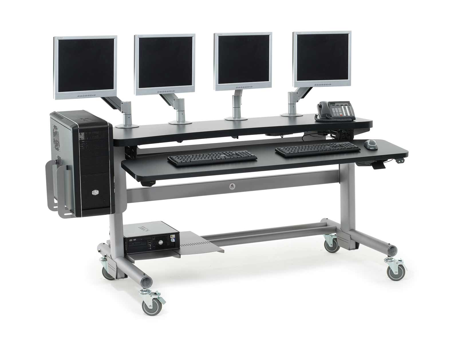 Anthro adjustable height modular computer desks