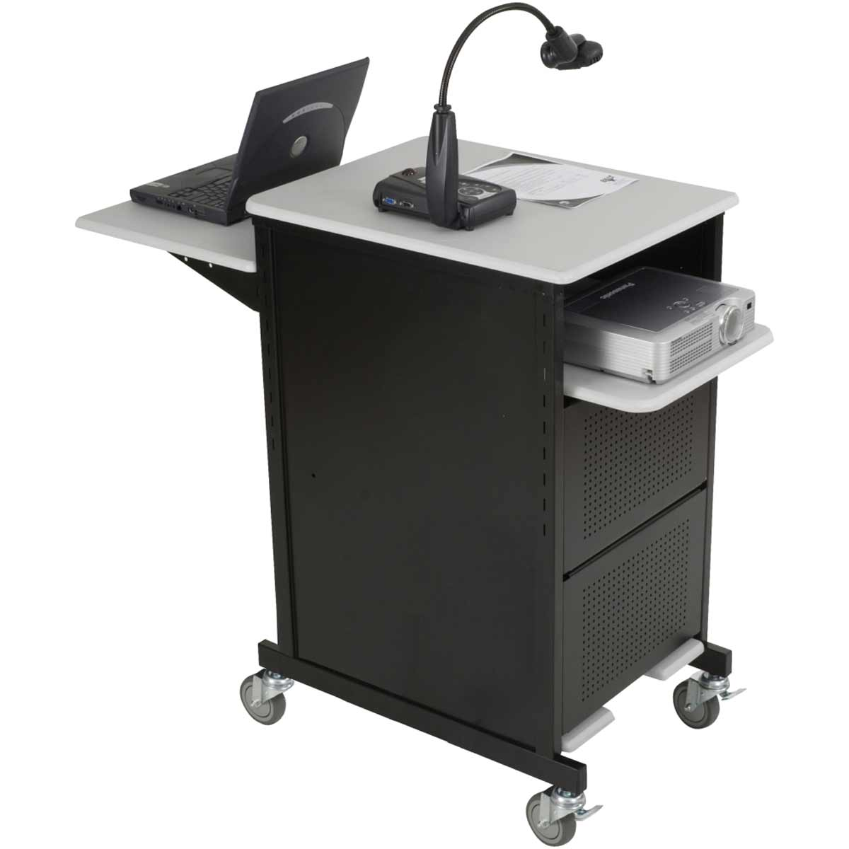 Balt presentation cart in black steel