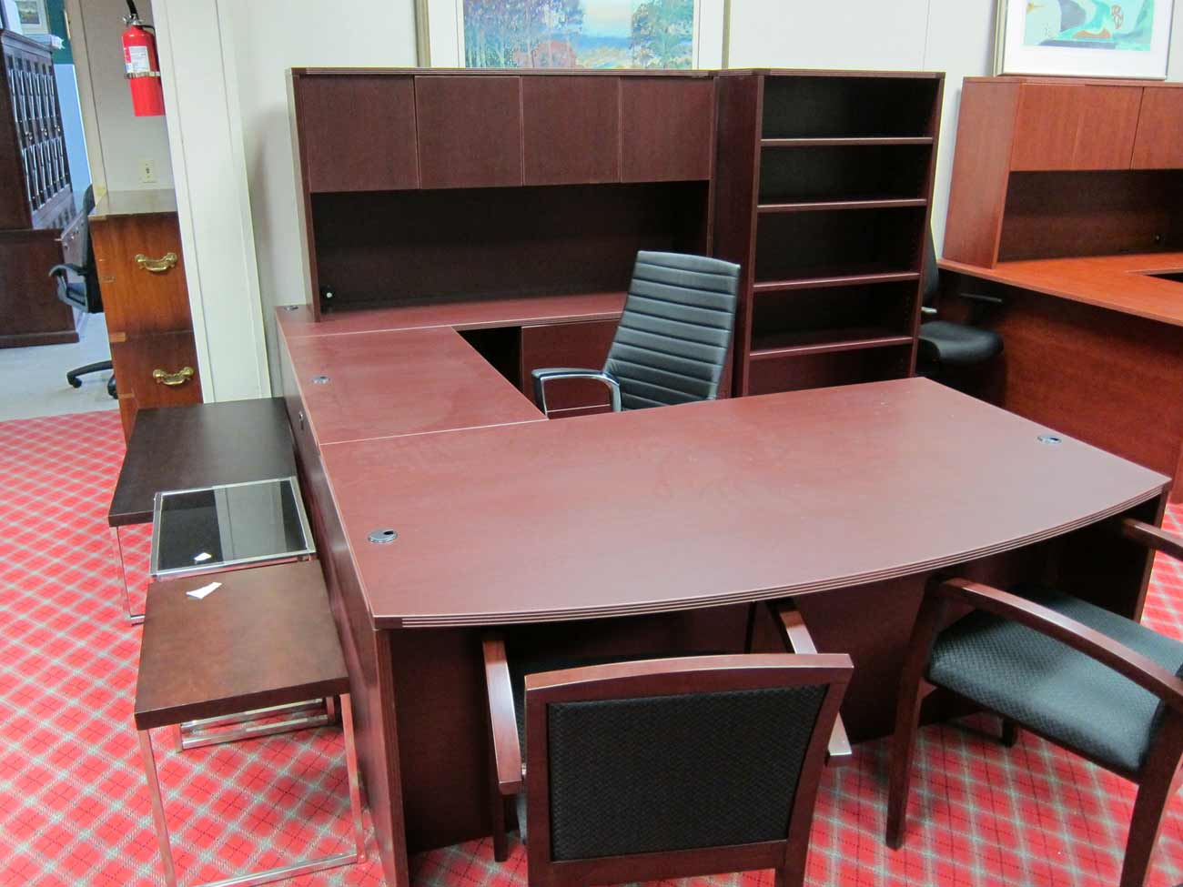 Cherryman Amber Office Mahogany Laminate Table