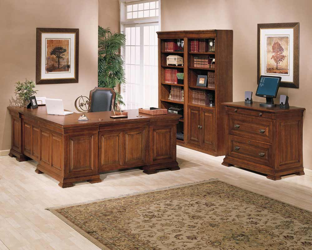 Classic Home Office L Shaped Desk