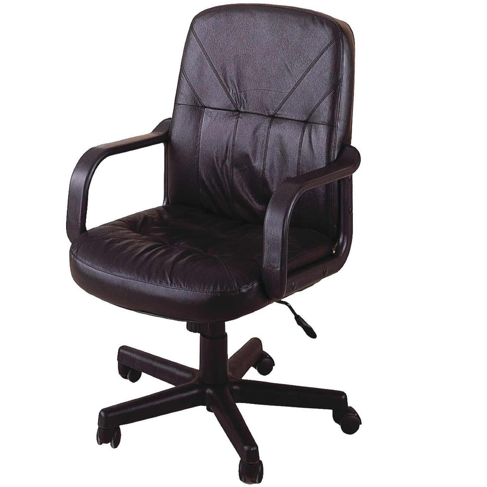 Office chairs brown leather office chairs for Home office chairs leather