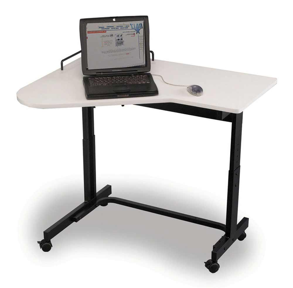 adjustable height computer desk