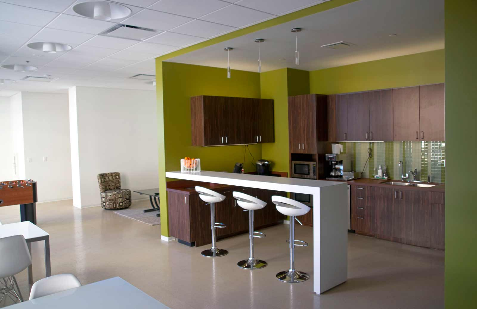 Cool office breakroom ideas joy studio design gallery for Office kitchen design