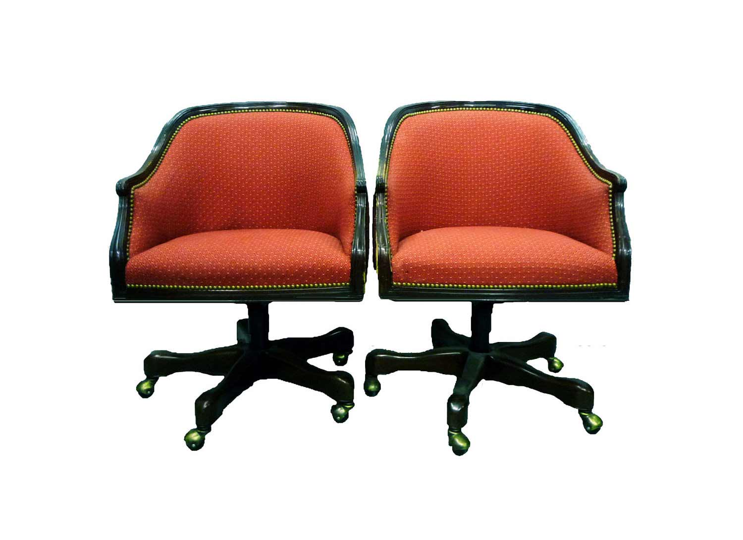Councill Upholstered Vintage Rolling Chair Sets