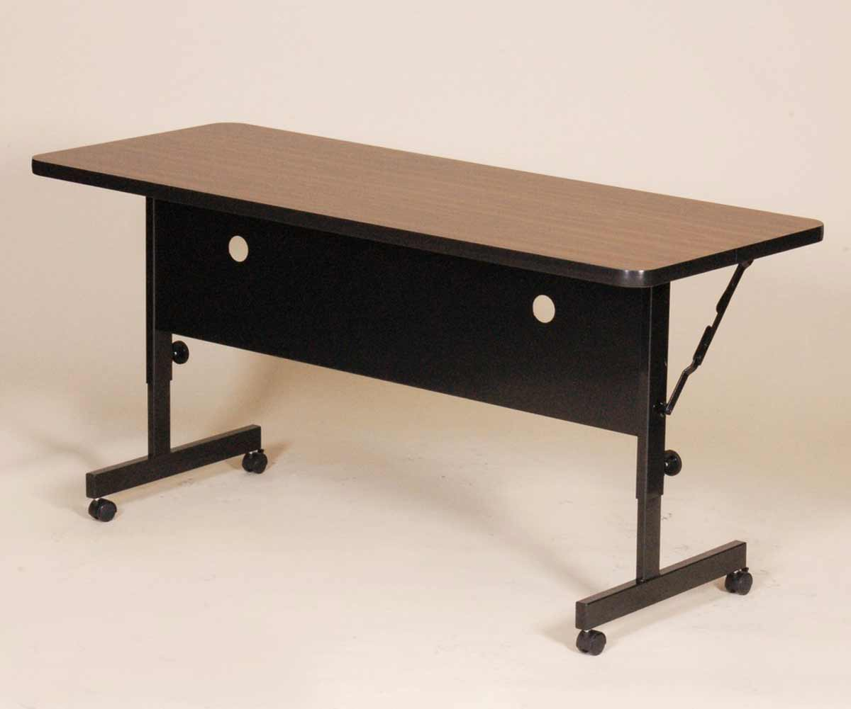 Deluxe adjustable office desk with flip-top feature