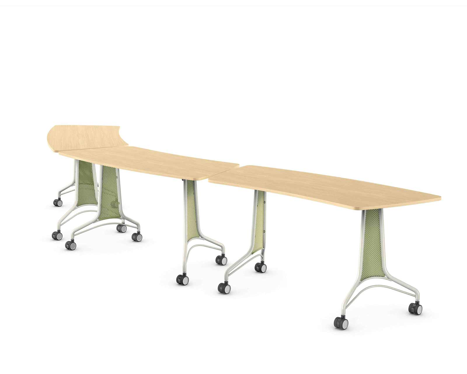Enlite used office workstation desk with mobile caster