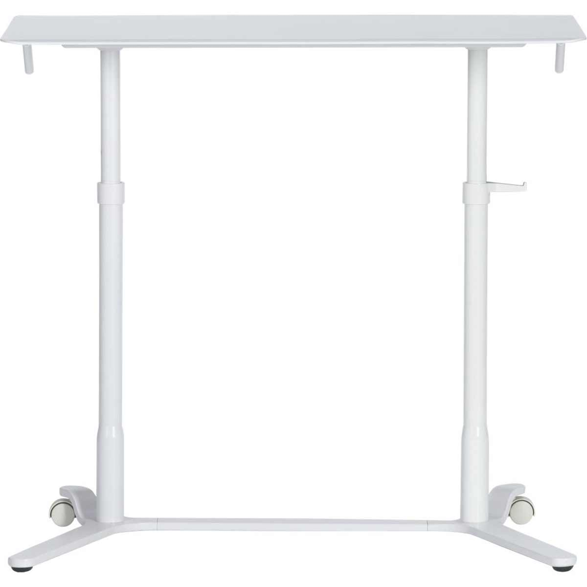 Haworth Eddy white adjustable office desk