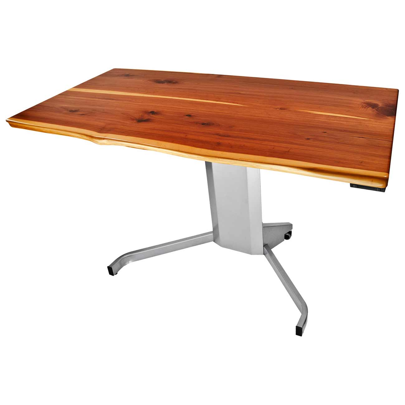 Height Adjustable Solid Wood Home Office Desk