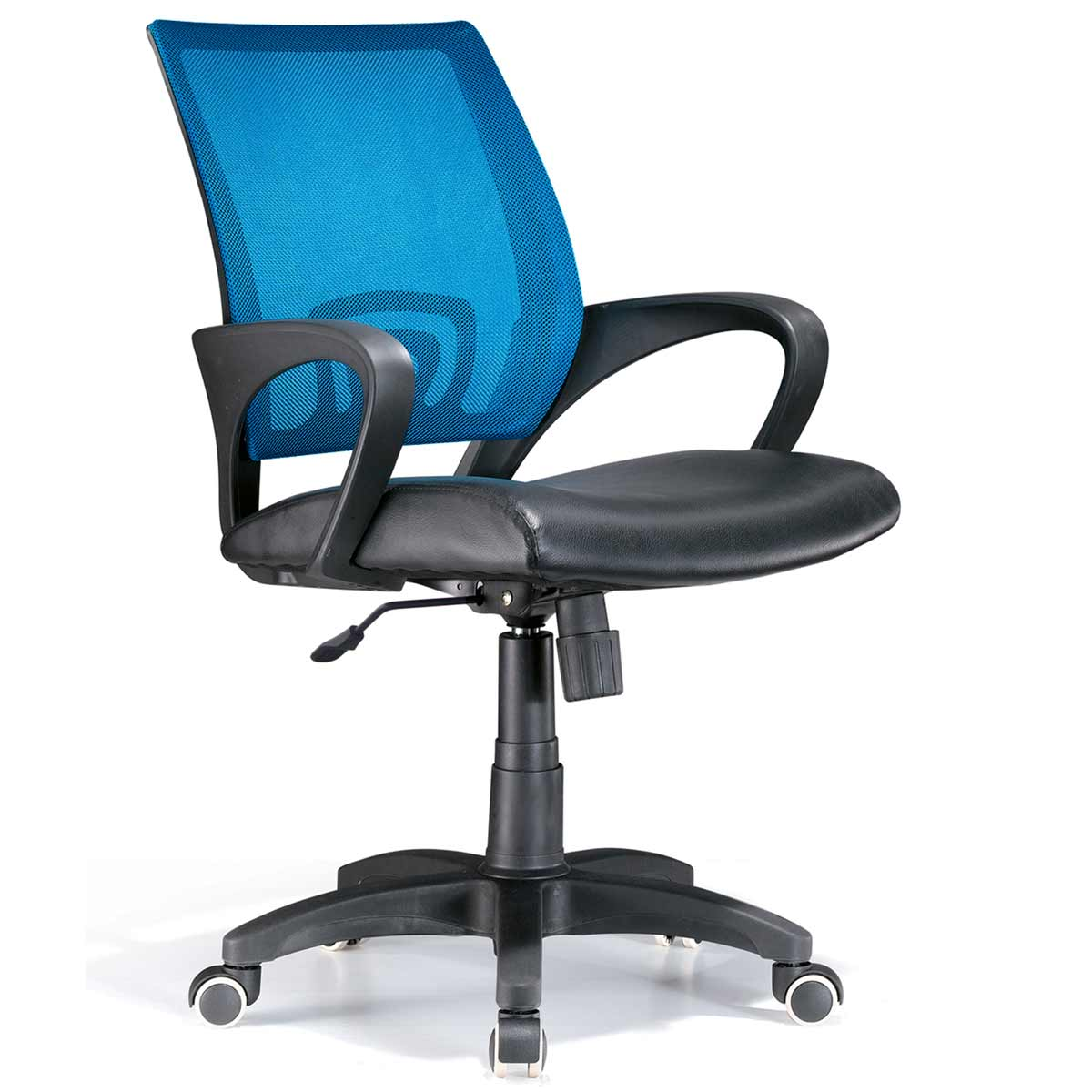 Blue office chair as nice office interiors for Colorful office furniture