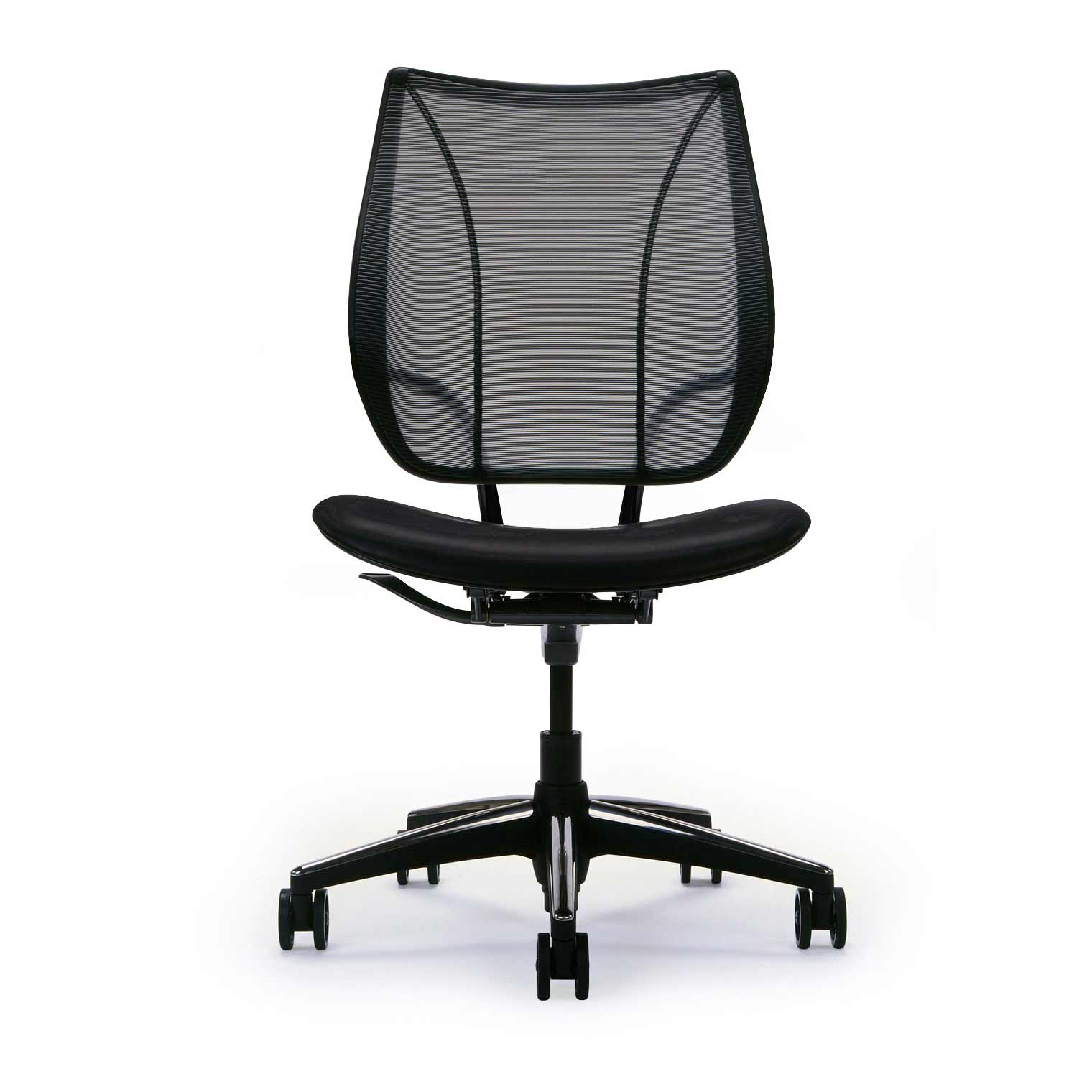 Humanscale Armless Black Ergonomic Back Mesh Office Chair