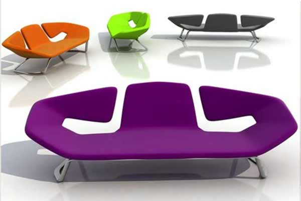 Modern office waiting sofa design