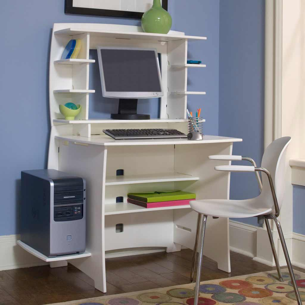 Multi-Pack Computer Small Modern Desk with Hutch