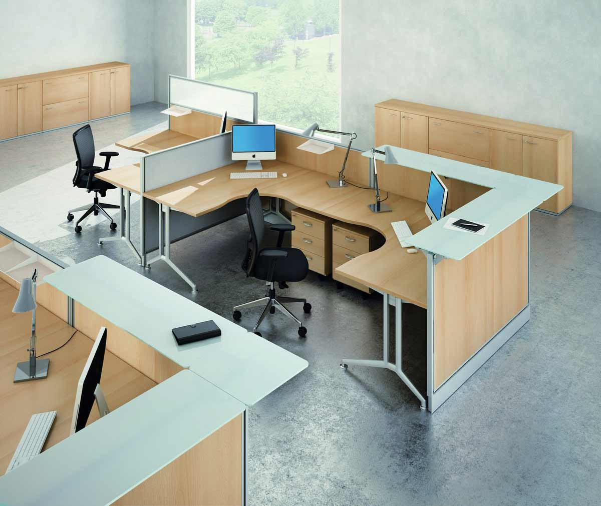Office Modular Cubicle Desk System