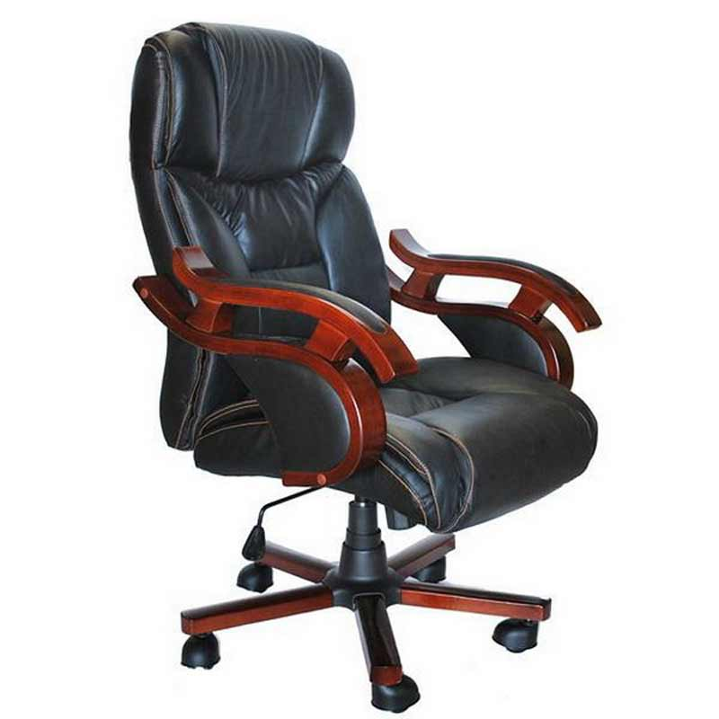 Stylish Executive Black Leather Office Chair