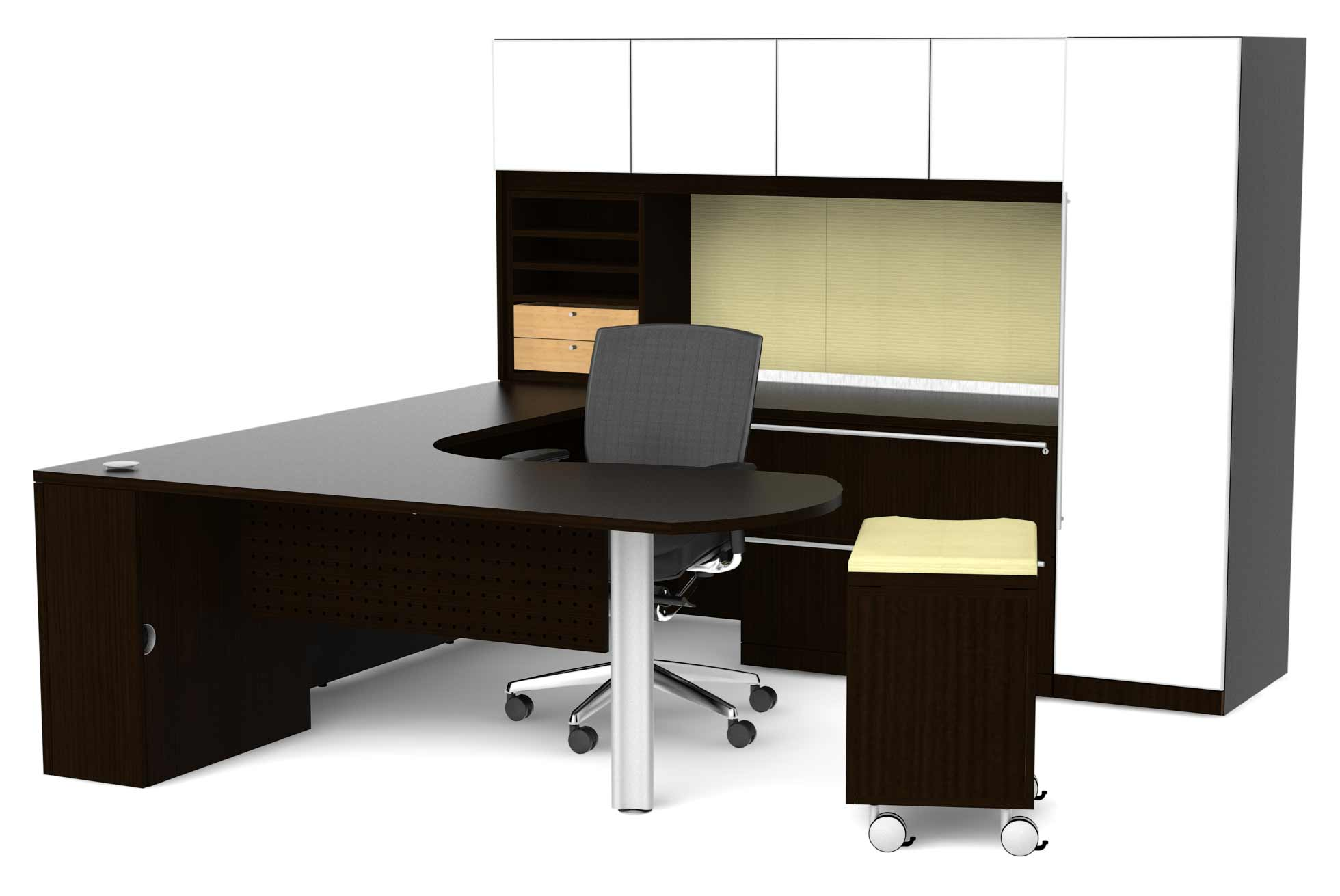 cherryman office furniture L-shaped desk system