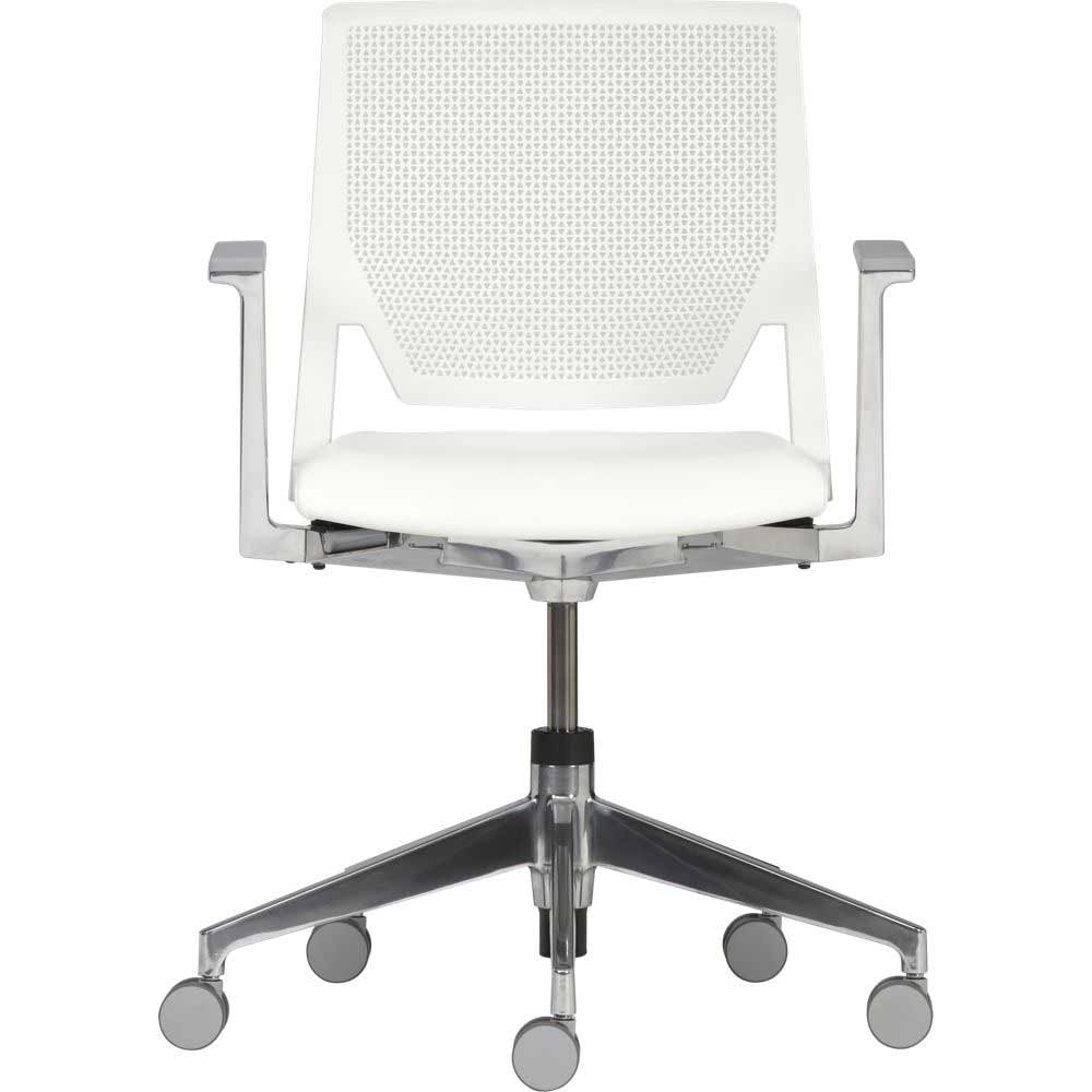crate and barrel office chair with ripple ivory leather