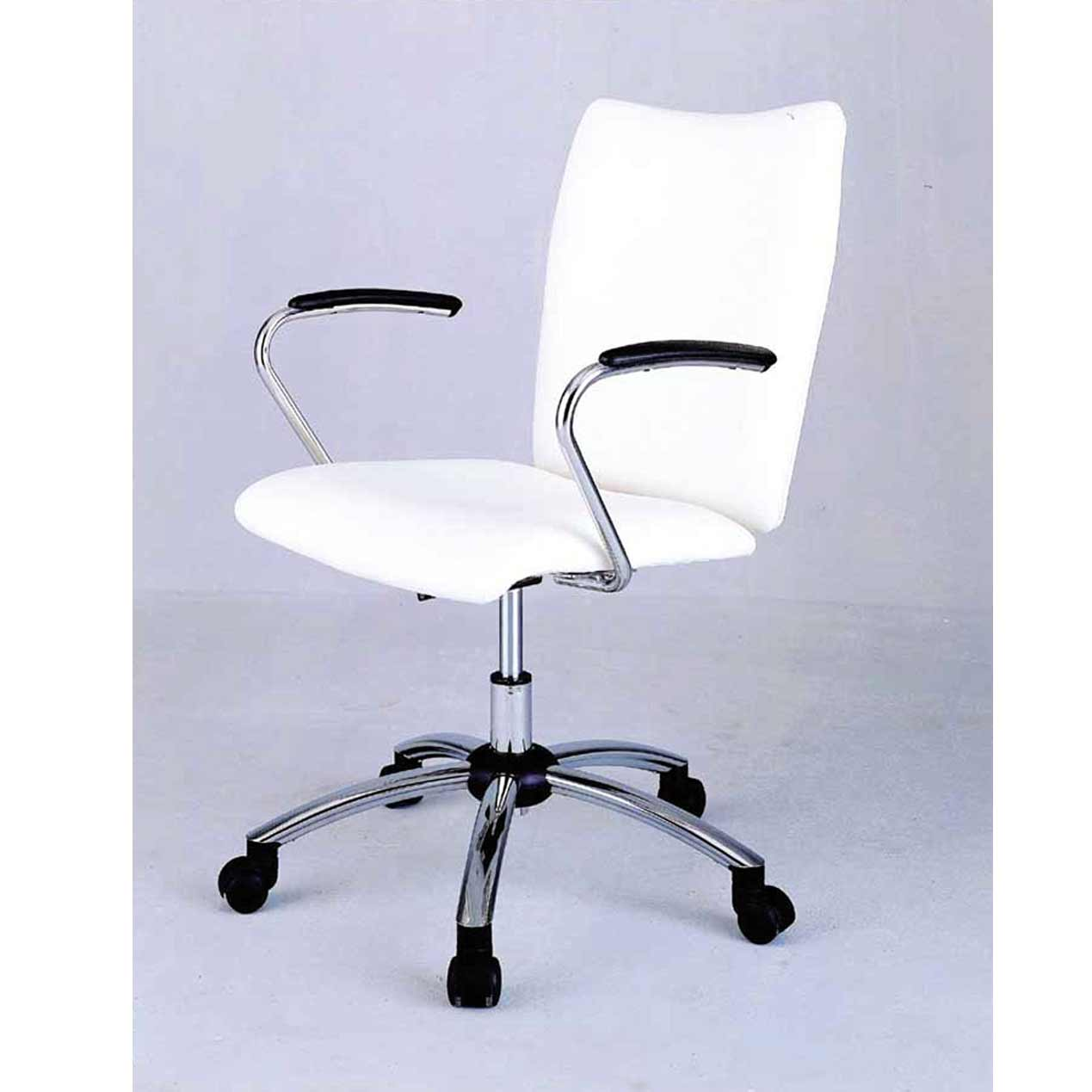 decorative white rolling desk chair