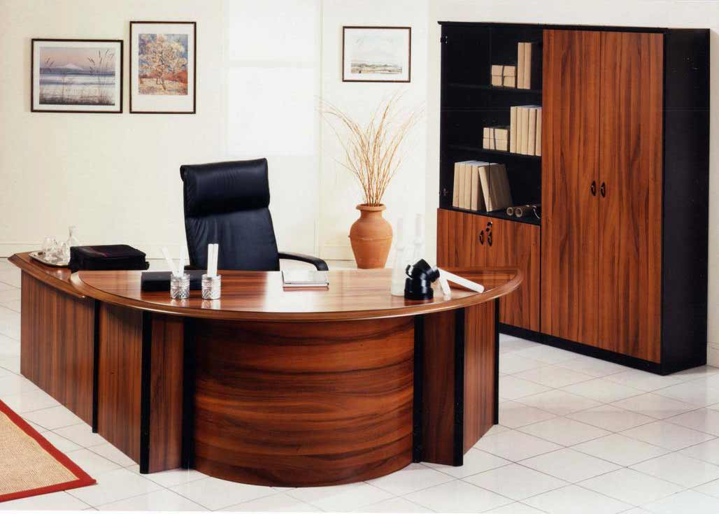 executive modern office desks in wood