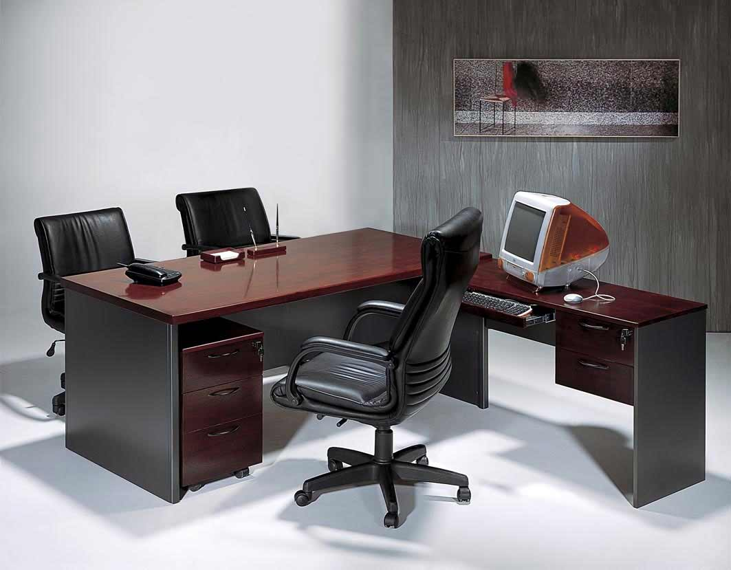 modern L-shaped office computer desks