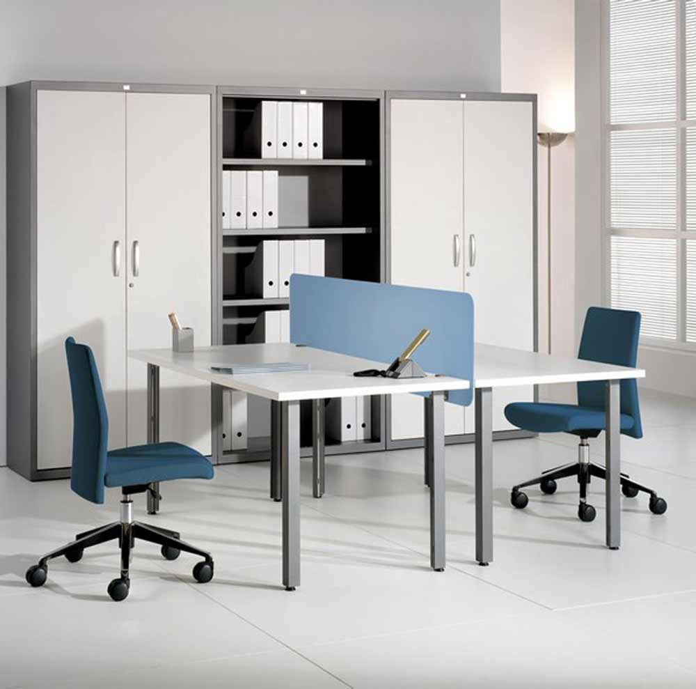 two person modern office desks