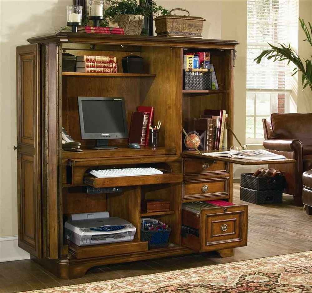 mission style computer armoire office furniture. Black Bedroom Furniture Sets. Home Design Ideas