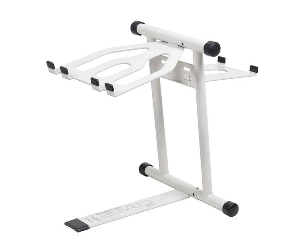 Crane White DJ Sub Tray Laptop Stand