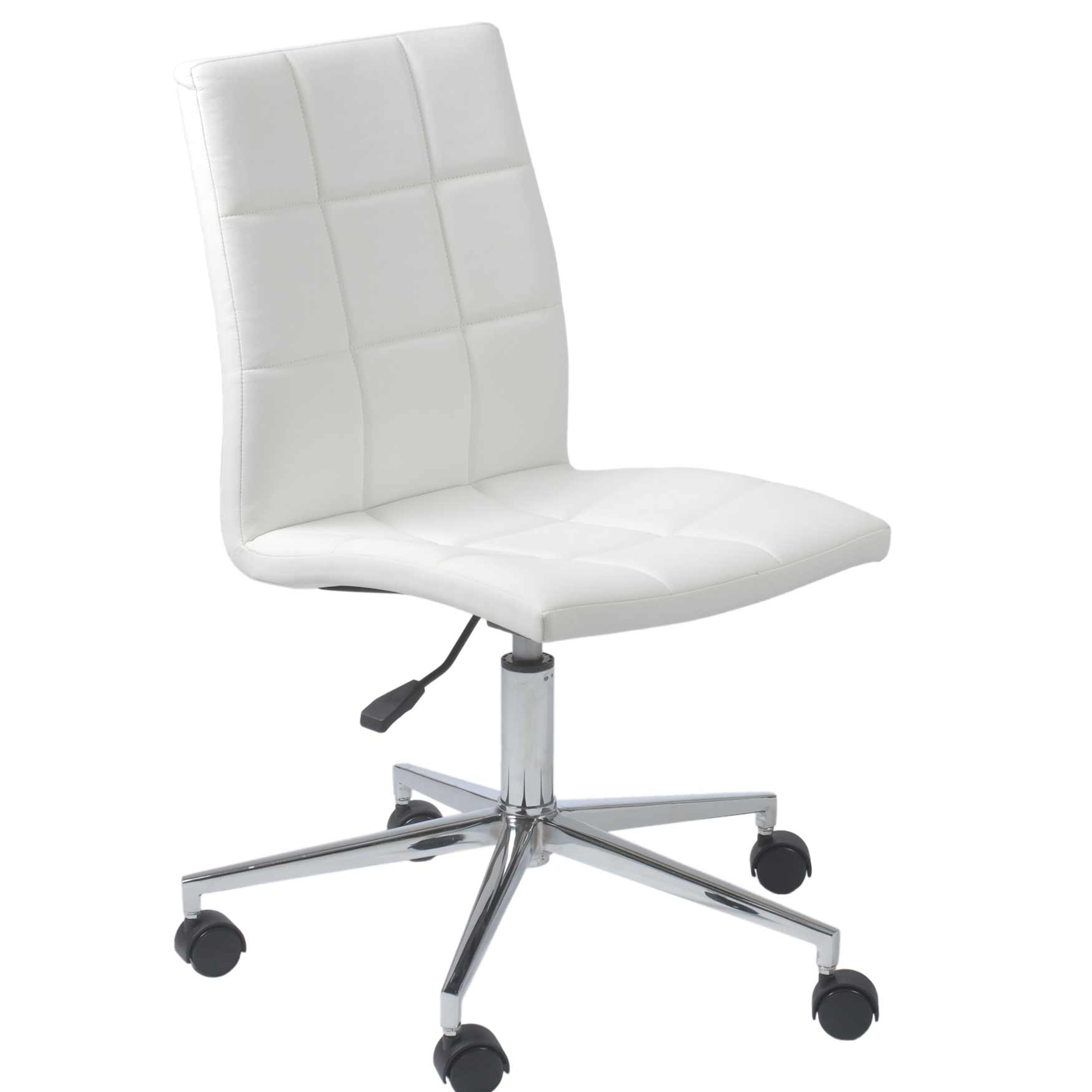 Armless task chairs for home office for Modern white office chair