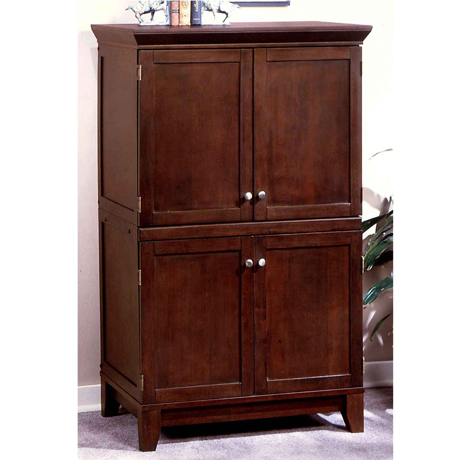 contemporary computer armoire furniture. Black Bedroom Furniture Sets. Home Design Ideas
