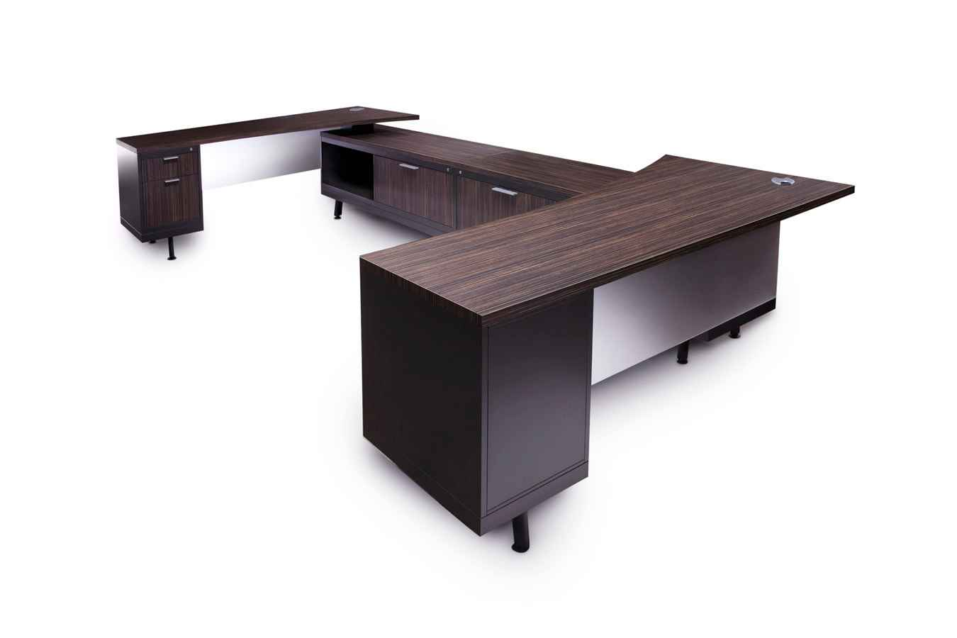 Designer Black Wooden Officfe Desk for Executive