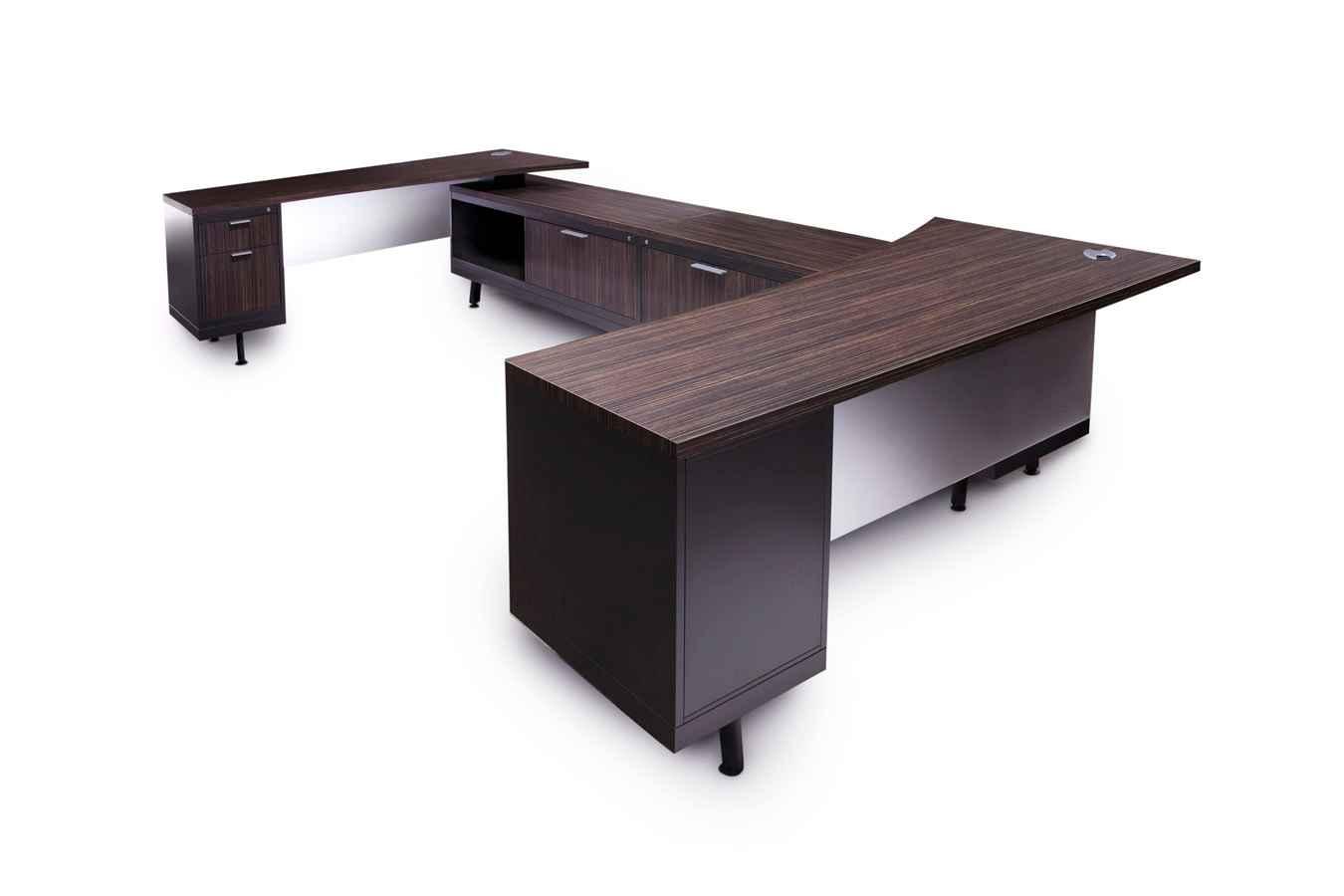 Designer Black Wooden Officfe Desk for Executive