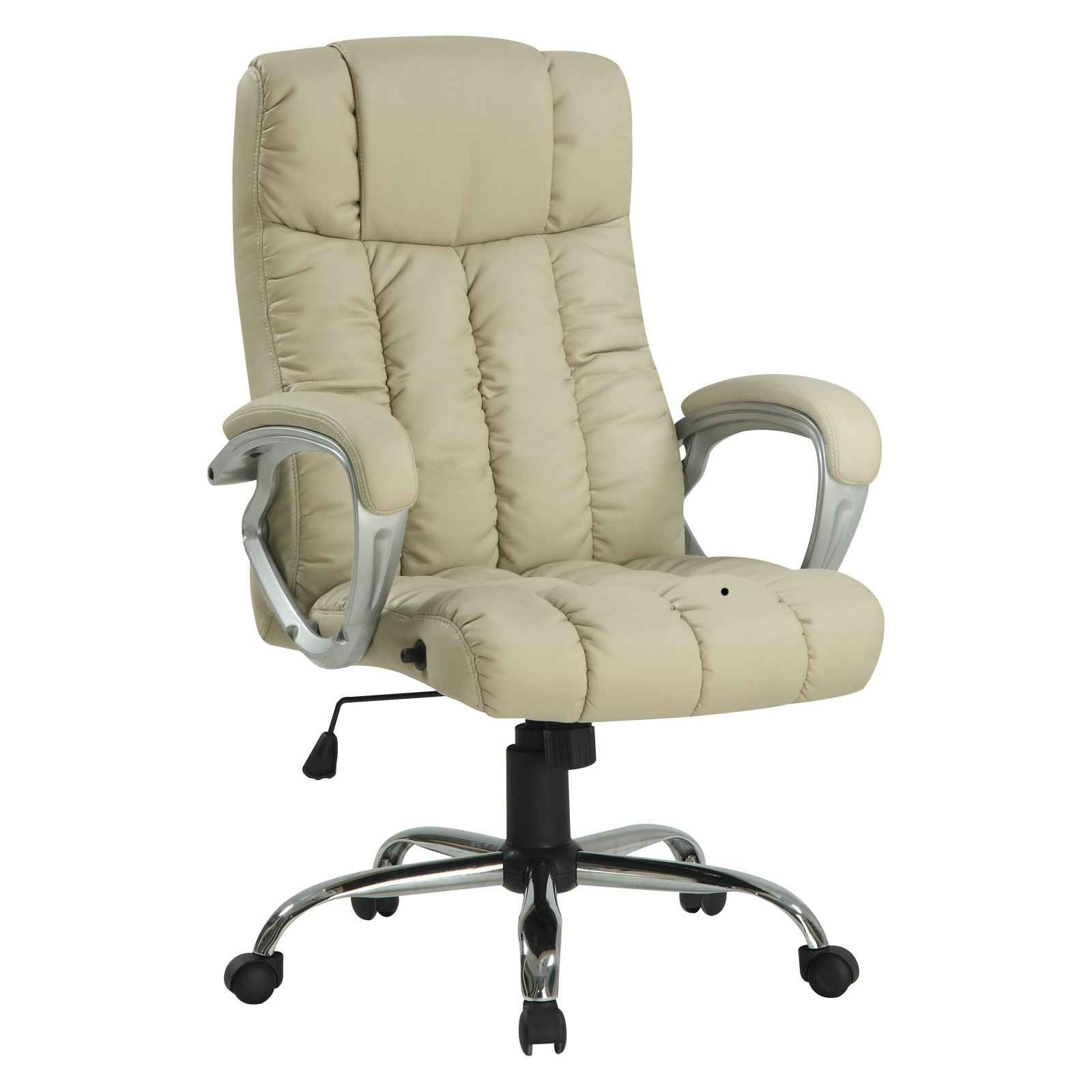 Emerald Bonded White Leather Adjustable Office Chair