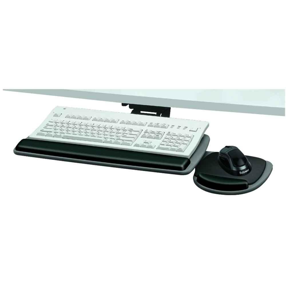 Fellowes ergonomic white portable keyboard tray
