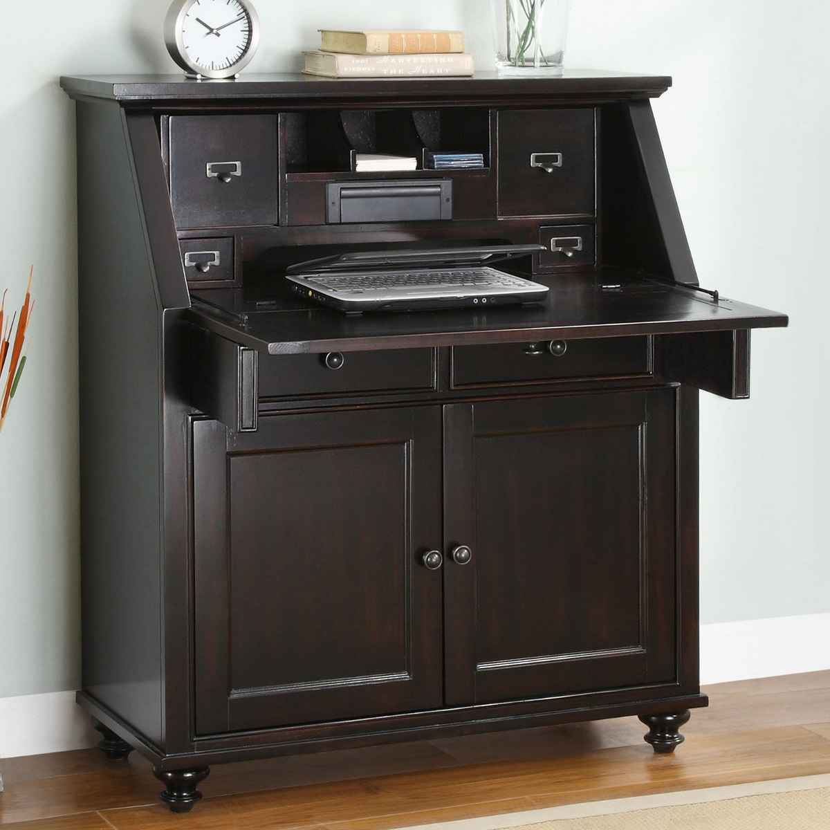 Hampton Bay Whalen Dark Secretary Writing Desk