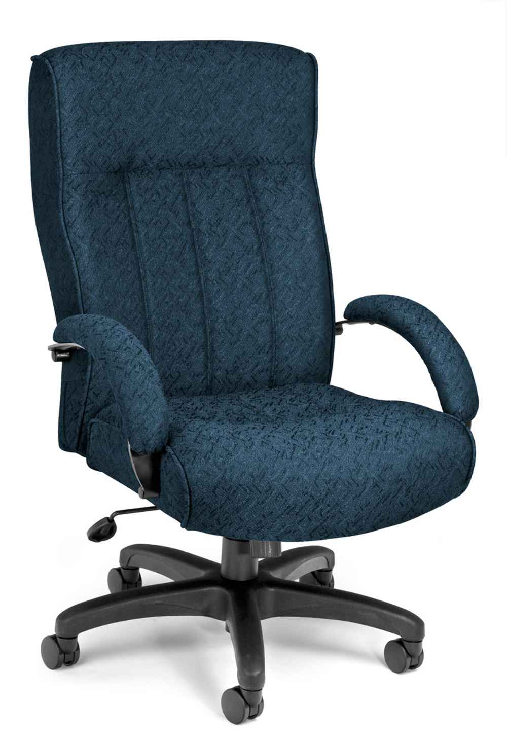 High Back Blue Leather Office Task Chair